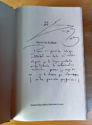 Pacto de lealtad firmado por el autor