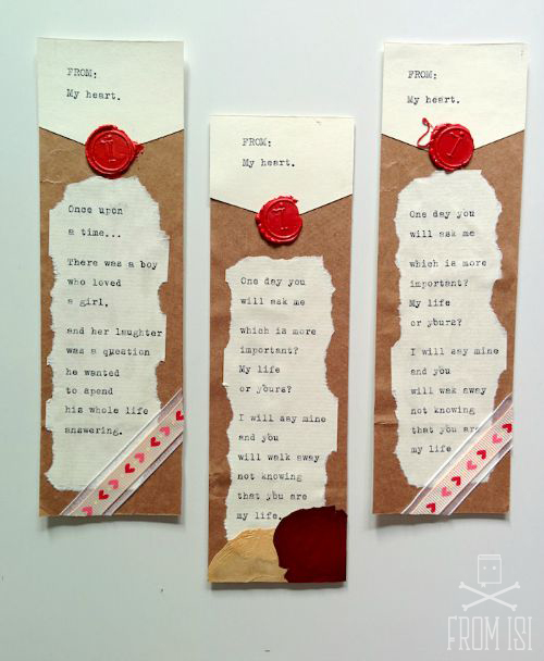 love letter bookmarks 1